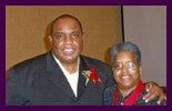 International recording artist Alvin Slaughter and Bishop Dr. Valli Y. Walton at the 10th Annual AWMF Missions Banquet November 19, 2010.