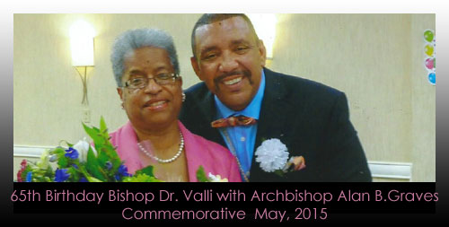 65th Birthday Commemorative Bishop Dr. Valli with Archbishop Alan B.Graves