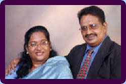 Rev. Dr. S. Hannah Nesmani and husband Rev. S. Thambi